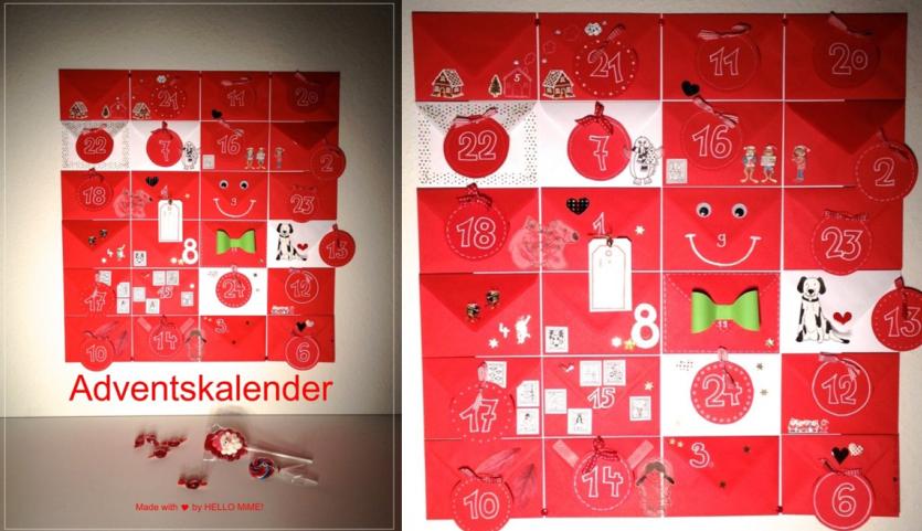 Michaelas Adventskalender besteht aus 24 liebevoll gestalteten Kuverts.