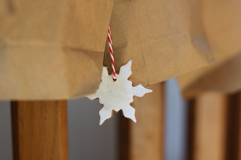 DIY-Schneeflocke aus Modelliermasse