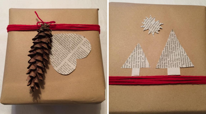 weihnachtliche Ideen für Geschenkverpackungen