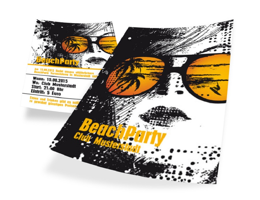Ein origineller Flyer kann auch mit nur zwei Farbnuancen und Schriftgrößen gestaltet werden – gut gelungen ist das in diesem Beispiel.