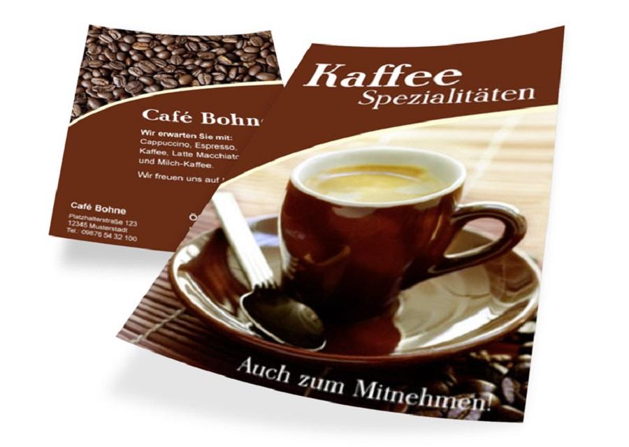 Flyer für Cafe