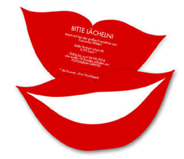 Flyer in Lippenform