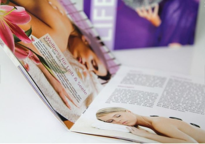 Großflächige Bilder brechen den Text auf und machen dadurch das Lesen einfacher.