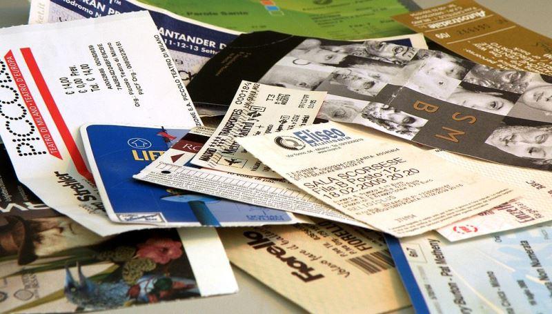 viele verschiedene Eintrittskarten und Tickets