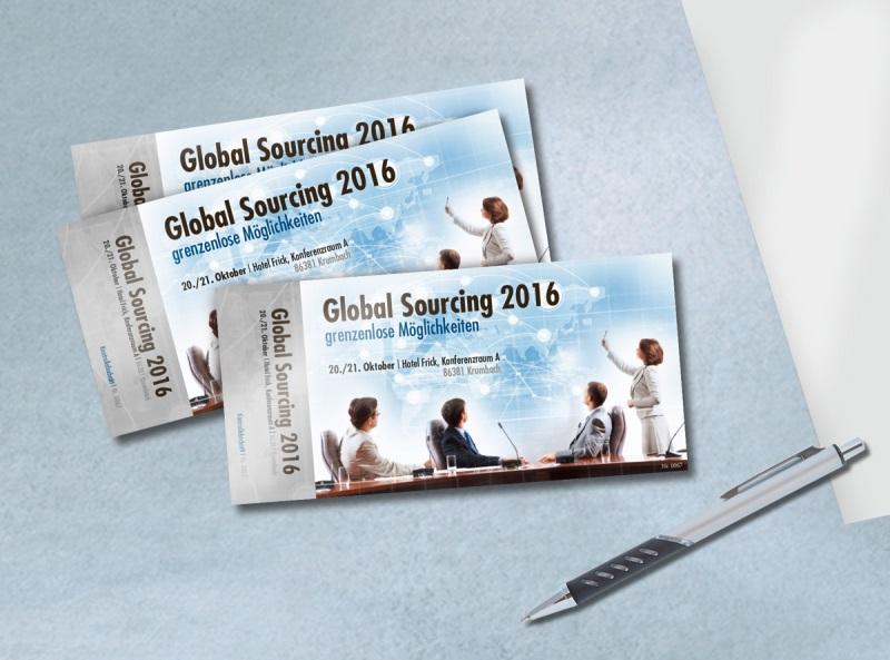 Eintrittskarte für eine Konferenz