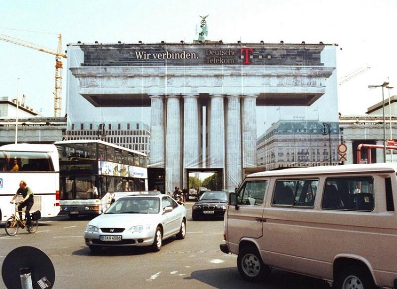 Brandenburger Tor Werbung