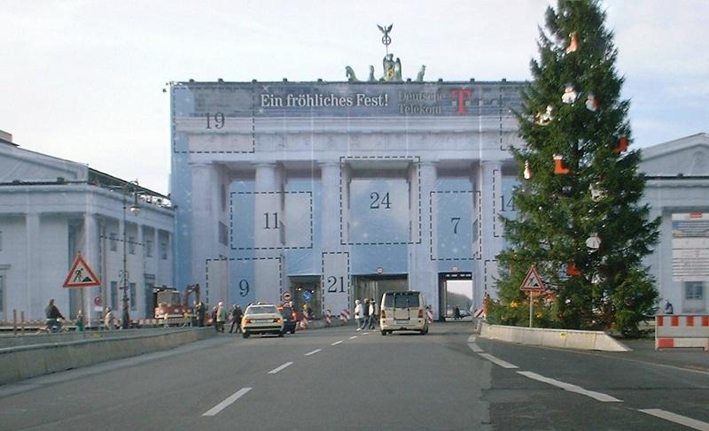 Werbung Brandenburger Tor Telekom