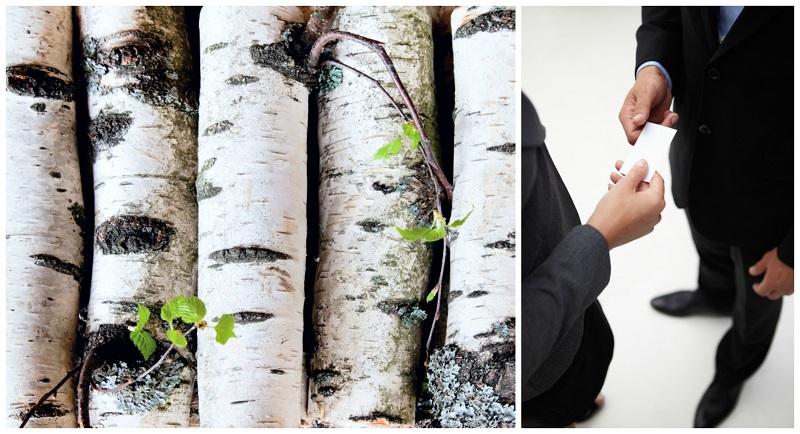 Die besondere Optik und Haptik des Birkenholzes kann der entscheidende Faktor sein, dass eine Visitenkarte überzeugt.