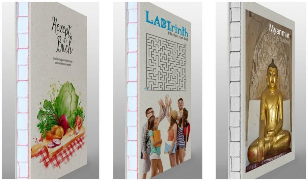 Ihr eigenes Buch in moderner Optik aus Recycling-Karton