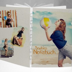 Elegant minimalistisch: Das Design-Buch Karton mit sichtbarer Fadenbindung