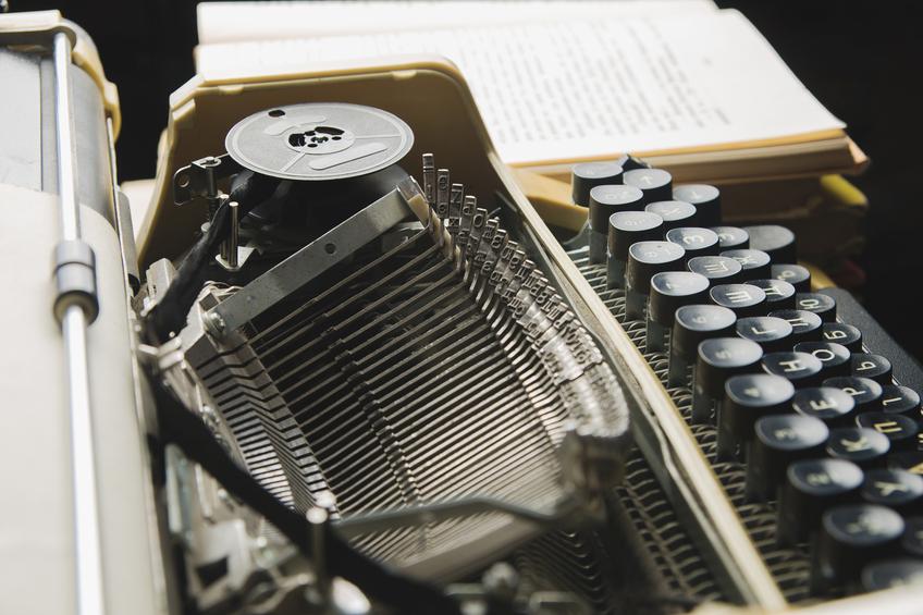 Schreibmaschine mit Kohlepapier