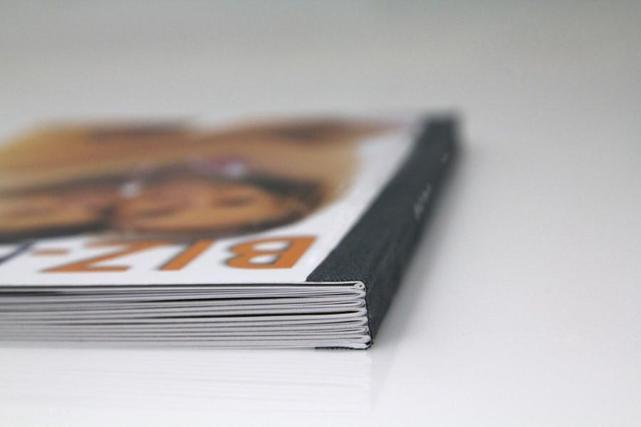 Kreative Ideen für das BIZ Buch - Doppelter Umschlag und hochwertige Fadenheftung.