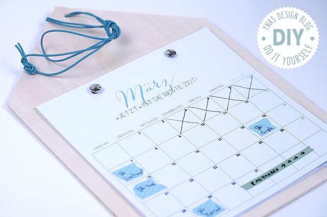 Selbstgebastelter Hauskalender