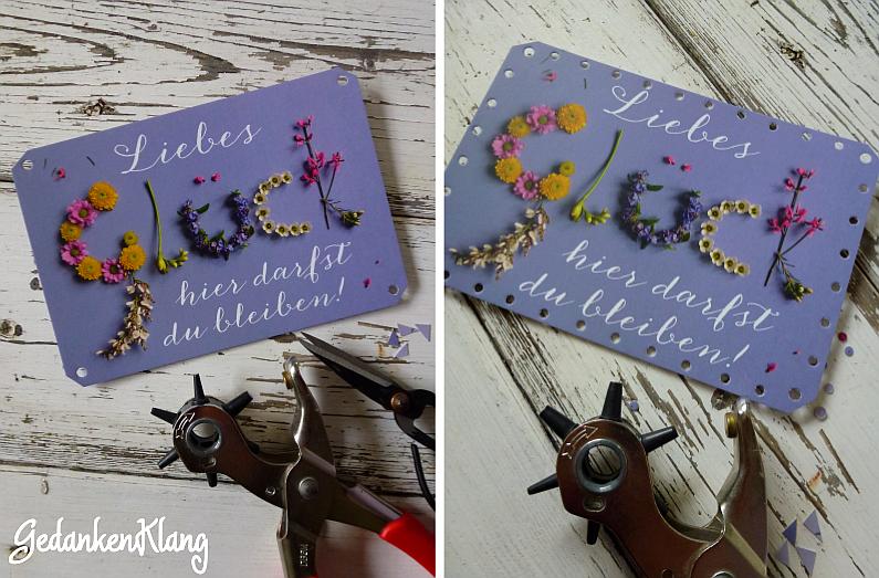 Alte Postkarte umhäkeln DIY