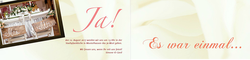 Hochzeitseinladungskarte Für Eine Märchenhochzeit