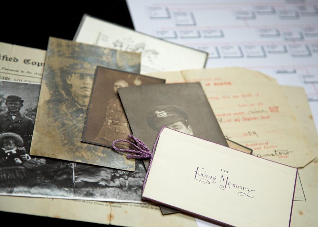 Alte Fotos und Briefe