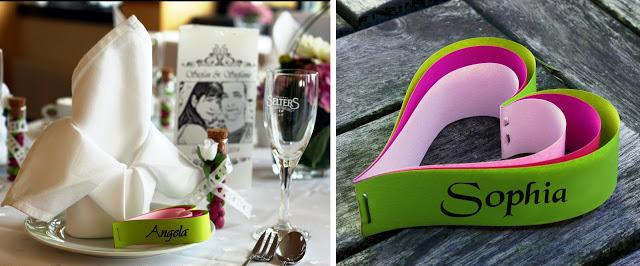 Tischkärtchen für Hochzeit