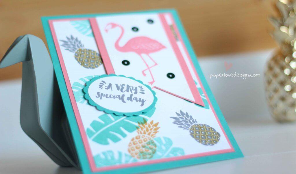 Pelikan Ananas Karte