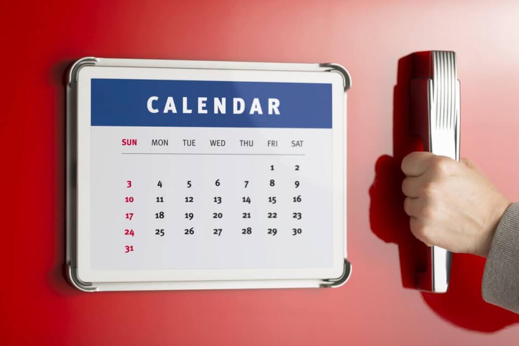Magnetkalender für den Kühlschrank als Werbegeschenk