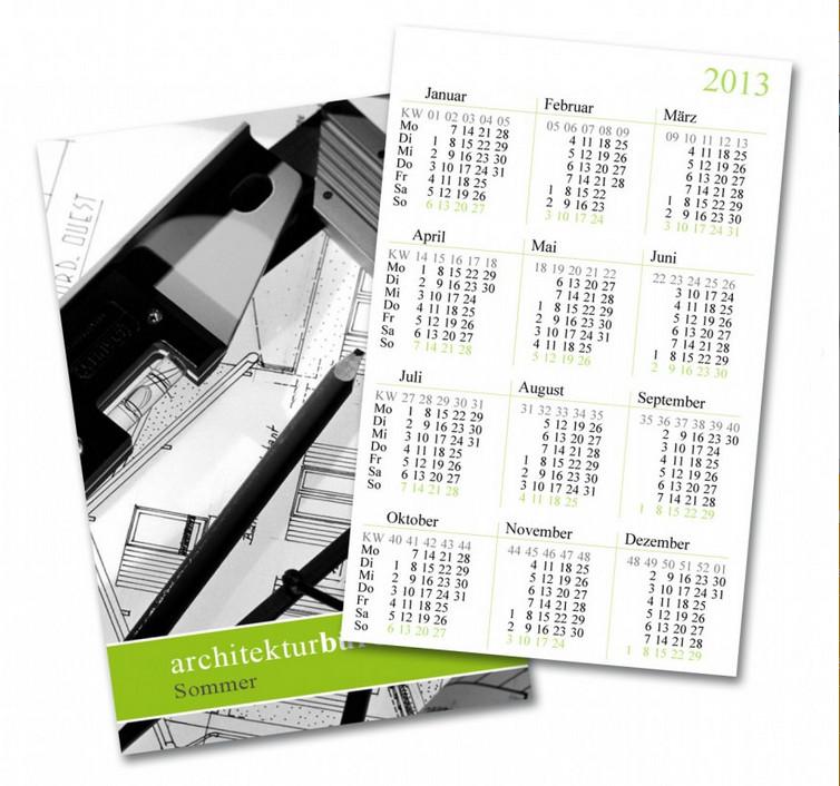 Taschenkalender in Visitenkartenformat