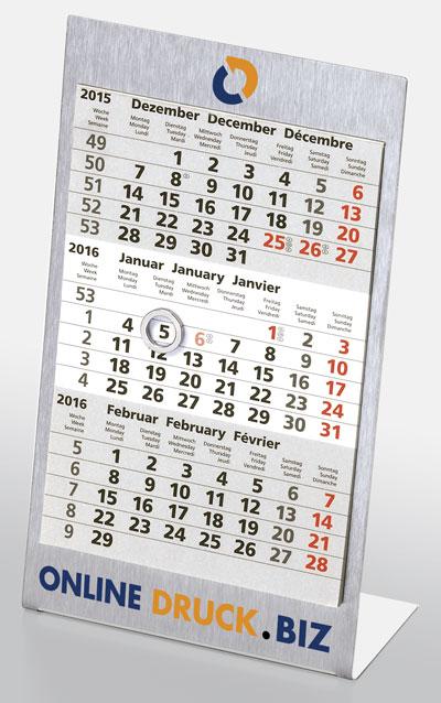 Tischkalender aus Aluminium als Werbegeschenk