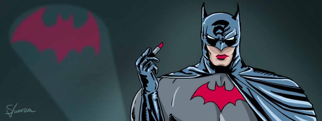 Held zahlreicher Comic-Hefte: Batman zeigt seine weibliche Seite.