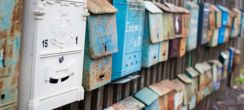 Briefkästen für Postkarten