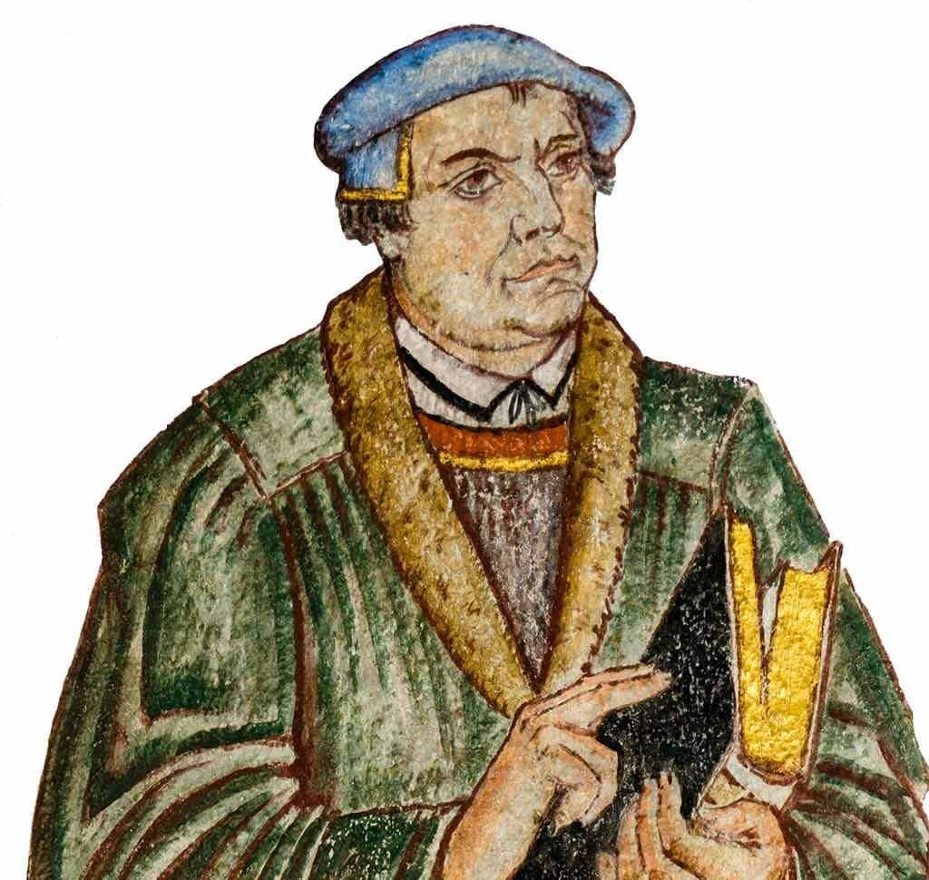 Flugblätter mal anders: Kirchen-Reformater Martin Luther, der für seinen Thesenanschlag bekannt wurde.