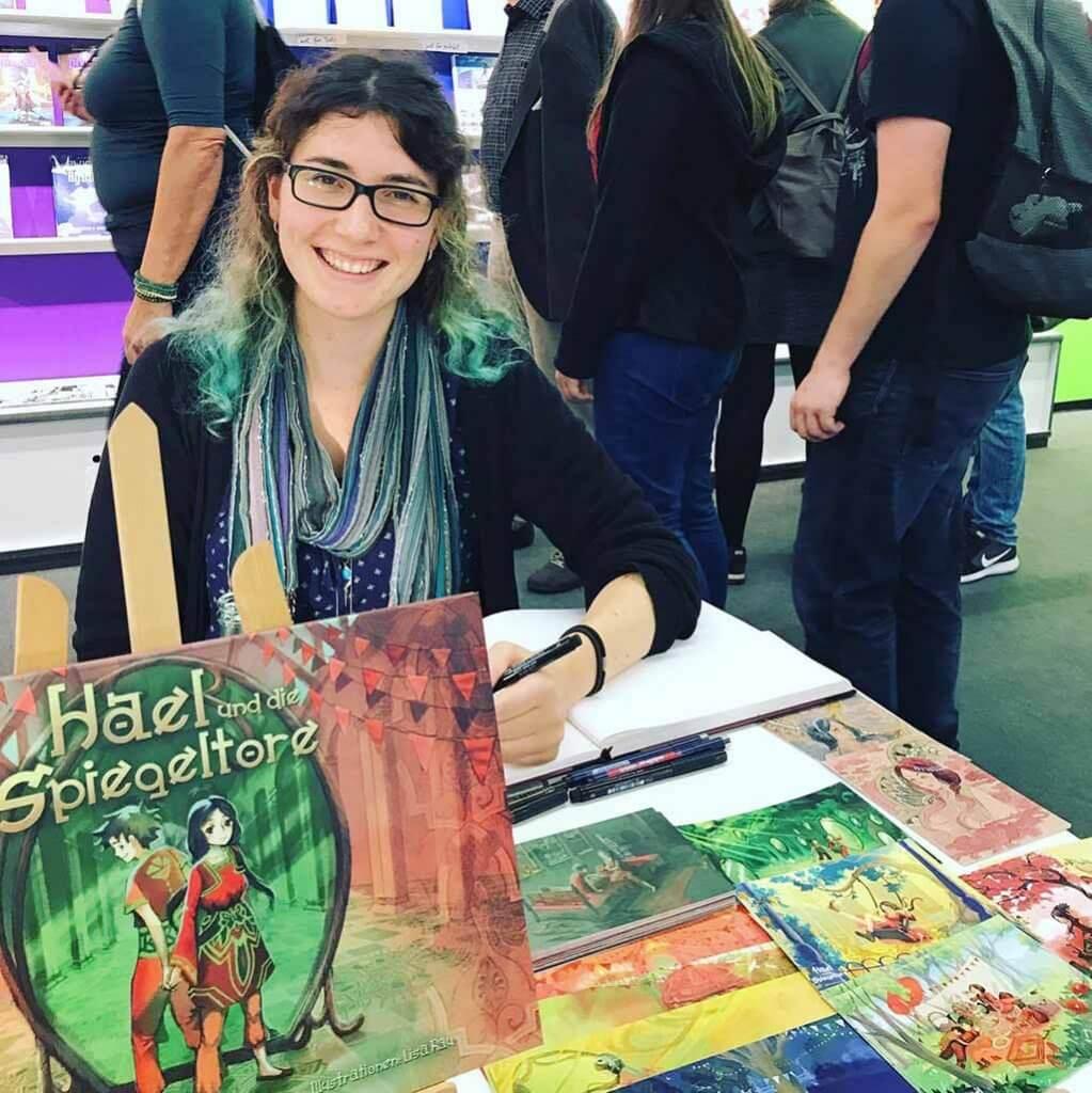 Das Multitalent Lisa Rau kann alles: Comics, Illustraionen, Animationen - und signieren. Hier auf der Frankfurter Buchmesse 2017.