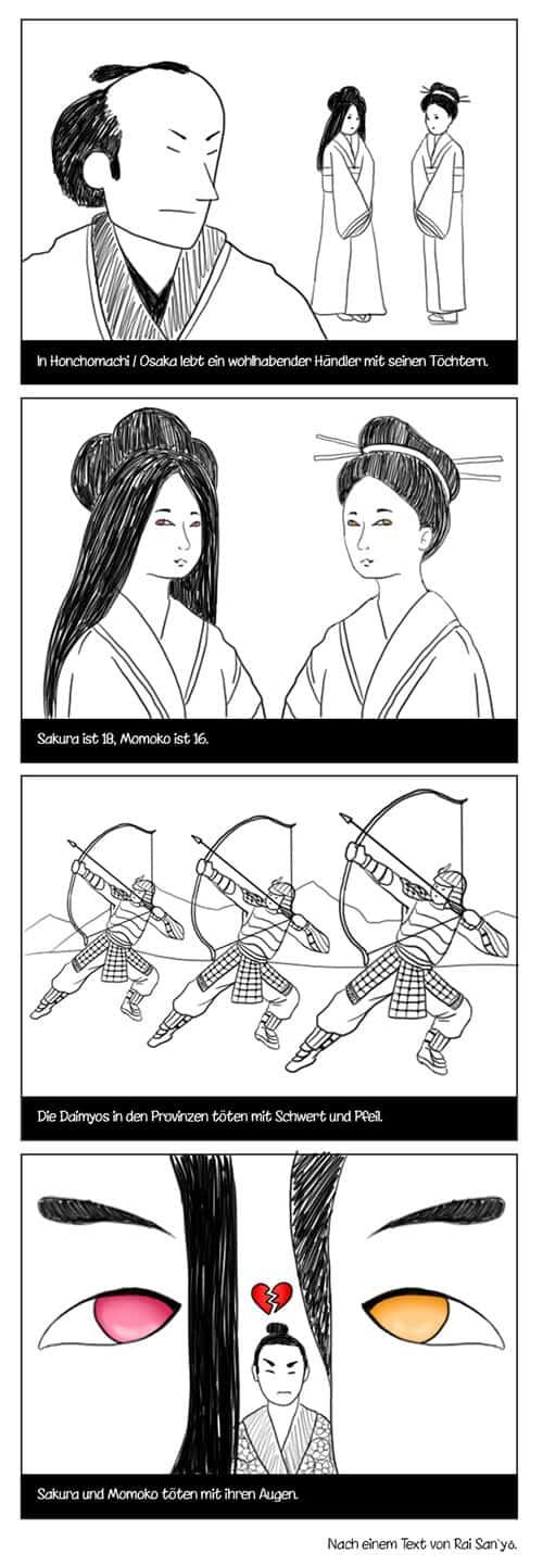 Yonkoma Karten Manga Rai San Yo
