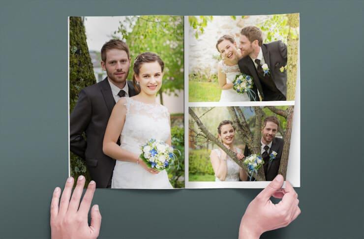 Hefte als Hochzeitszeitung