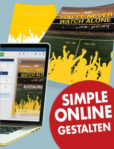 Fussball WM Flyer online gestalten