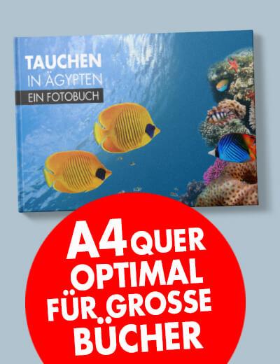 Buch A4 quer online drucken