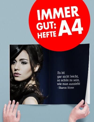 Hefte A4 online drucken