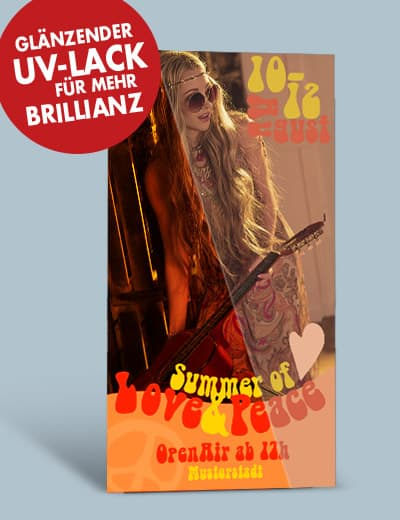 Plakate A2 halb UV drucken