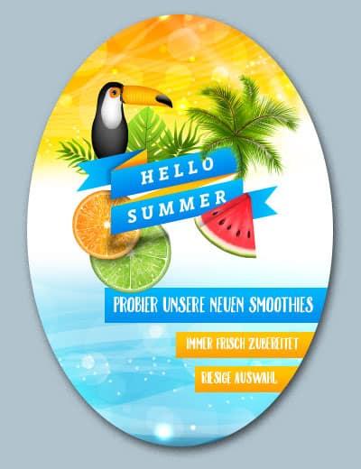 Plakat oval preiswert online drucken