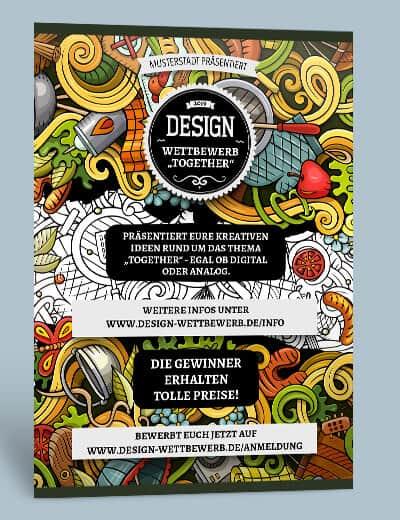 Plakat drucken Design A3