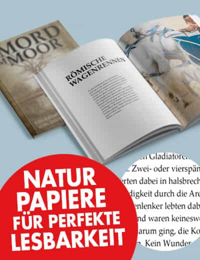 Taschenbuch Wissenschaft Belletristik mit Naturpapier