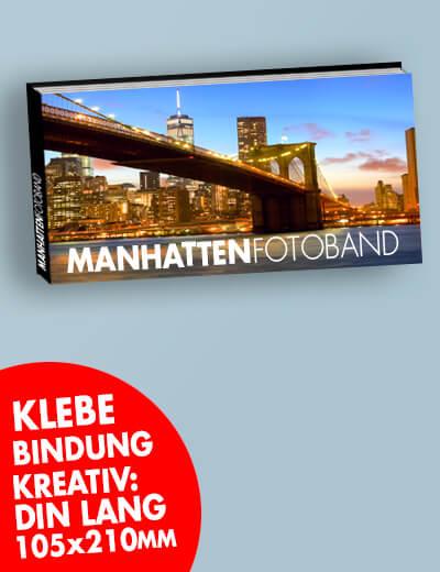 Broschuere DIN Lang quer Klebebindung 210 x 105 mm