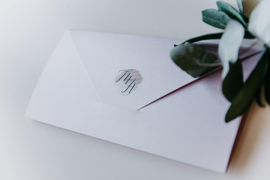 Hochzeitseinladungen Klappkarten Briefumschlag Metallic gross