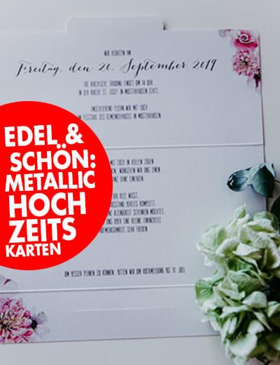 Briefumschlag Hochzeitskarte klein metallic floral