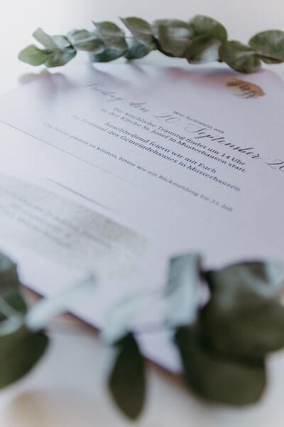 Hochzeitseinladung Klappkarte briefumschlag gross detail