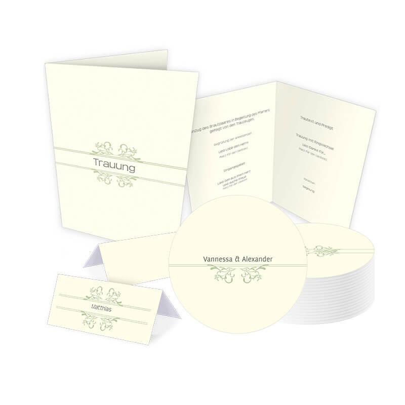 Hochzeits-Set stilvoll Karten online drucken