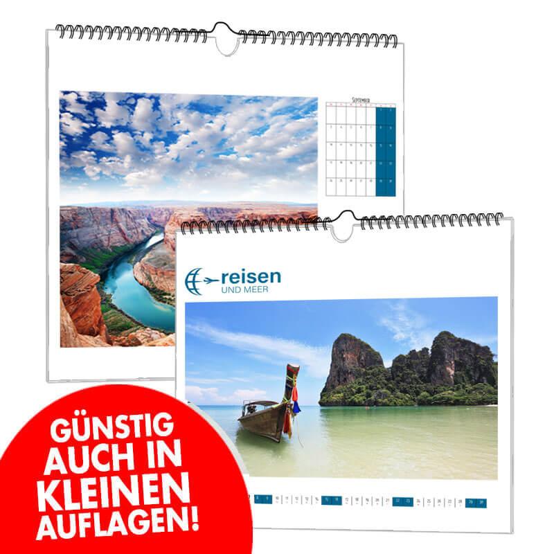 Kalender A3 in Kleinauflagen als Werbegeschenk guenstig online drucken