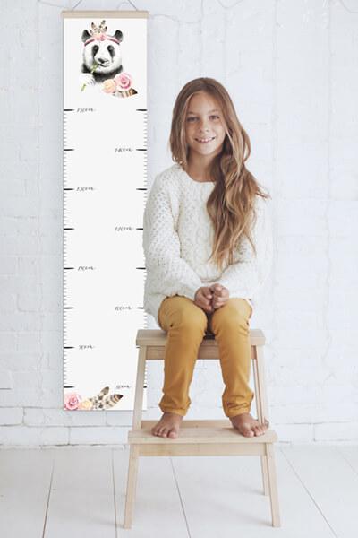 Kind Wachstum Messlatte Plakat Streifen drucken Sonderformat