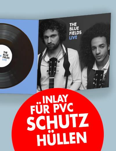 Inlay für PVC Schutzhülle Schallplatte Klappkarte