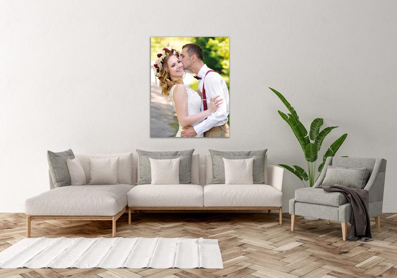 Foto Leinwand Canvas Wandschmuck Wohnzimmer Brautpaar Hochzeit