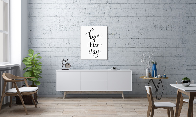 Foto Leinwand Canvas Wandschmuck Typographie