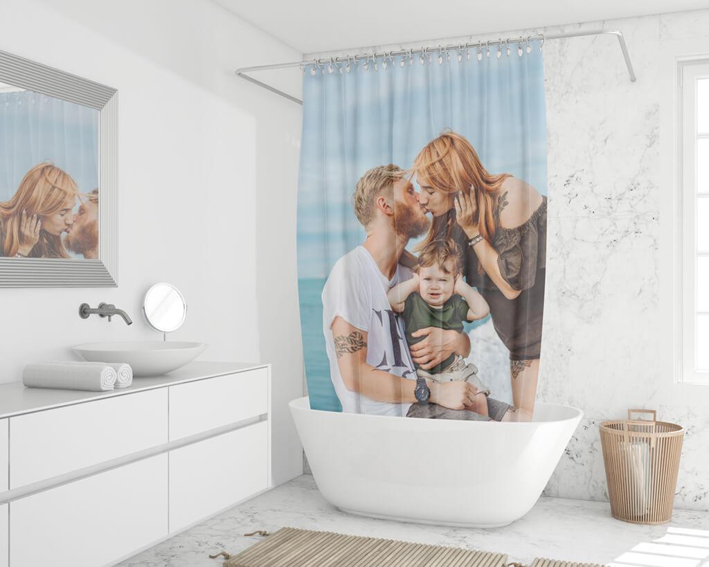 Duschvorhang online individuell bedrucken
