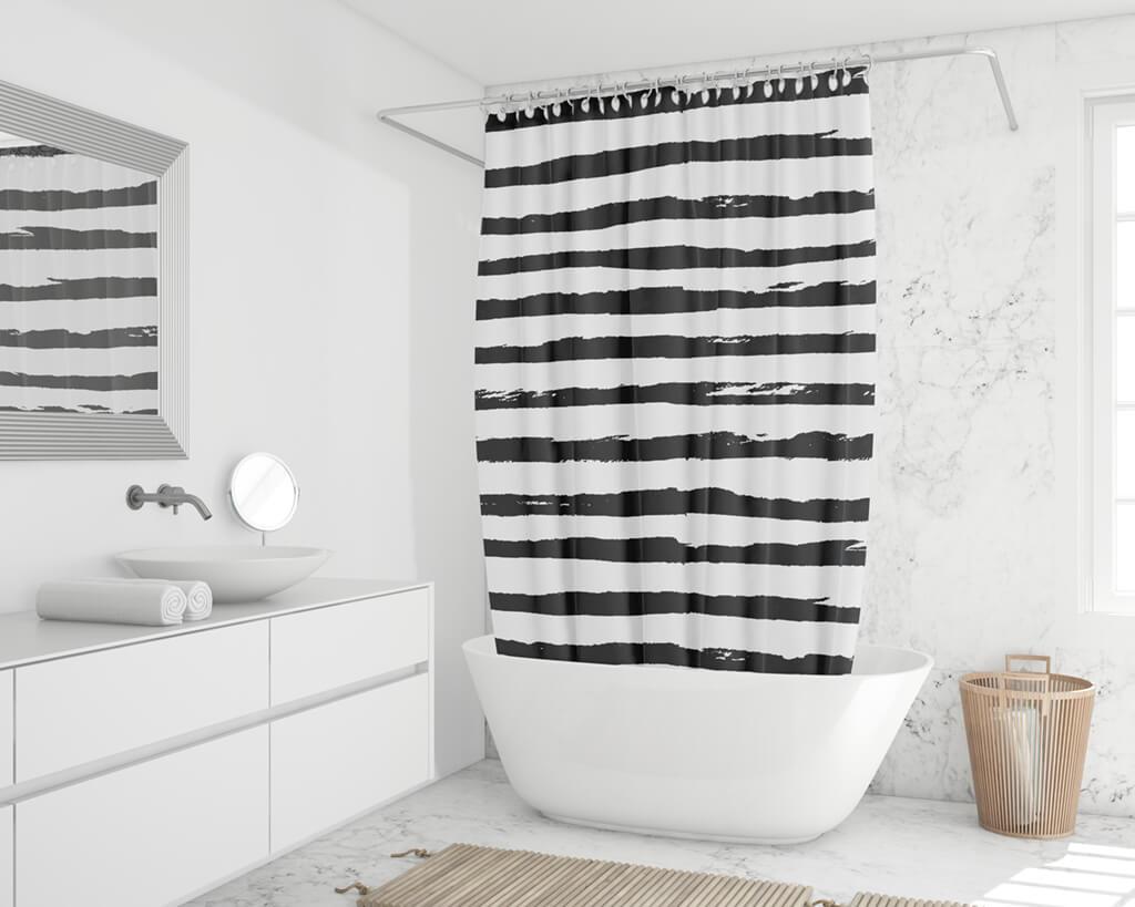 Duschvorhang online drucken Foto Grafik Text
